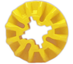 LEGO Yellow Bevel Gear with 12 Teeth (6589)