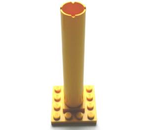 LEGO Yellow Boat Mast Base 4 x 4 x 9 with Notches
