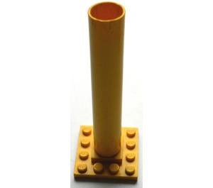 LEGO Yellow Boat Mast Base 4 x 4 x 9 without notches
