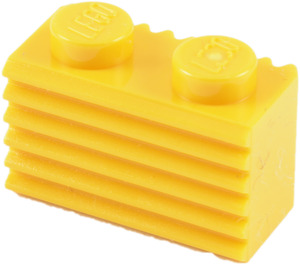 LEGO Yellow Brick 1 x 2 with Grille (2877)