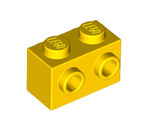 LEGO Yellow Brick 1 x 2 with Studs on Opposite Sides (52107)