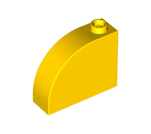 LEGO Yellow Brick 1 x 3 x 2 Curved Top (33243)