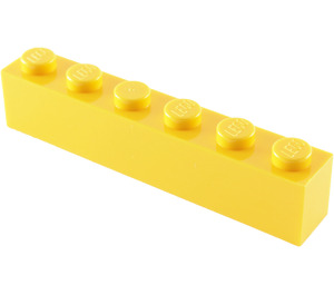 LEGO Yellow Brick 1 x 6 (3009)
