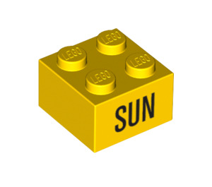 LEGO Yellow Brick 2 x 2 with Decoration (14806 / 97636)