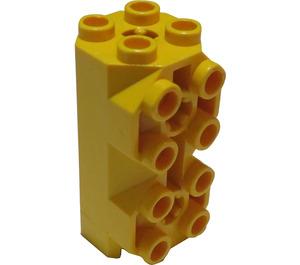 LEGO Yellow Brick 2 x 2 x 3.33 Octagonal With Side Studs (6042)
