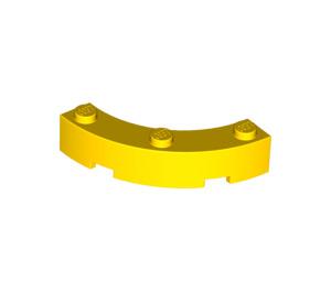 LEGO Yellow Brick Corner 4 x 4 (Wide with 3 Studs) (48092)