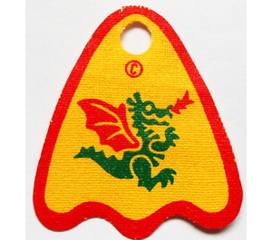 LEGO Yellow Cape with Green Dragon with Red Wings Decoration
