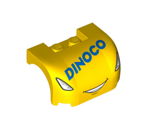 LEGO Yellow Car Mudguard 3 x 4 x 1.667 Curved with Decoration (34358)