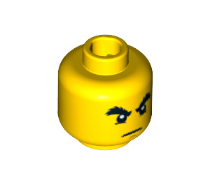 LEGO Yellow Cole Head (Recessed Solid Stud) (15009 / 93619 / 94055)