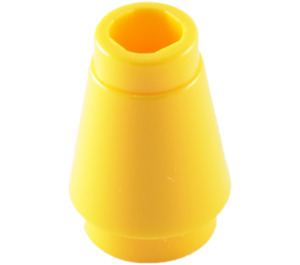 LEGO Yellow Cone 1 x 1 with Top Groove (59900)