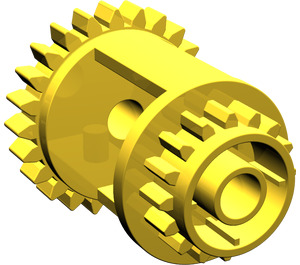 LEGO Yellow Differential Gear Casing