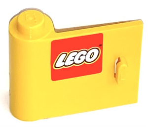 LEGO Yellow Door 1 x 3 x 2 Left with Sticker from Sets 2148, 2148 with Solid Hinge