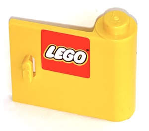 LEGO Yellow Door 1 x 3 x 2 Right with Sticker from Sets 2148, 2148 with Solid Hinge