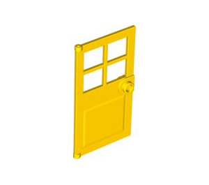 LEGO Yellow Door 1 x 4 x 6 with 4 Panes and Stud Handle (60623)