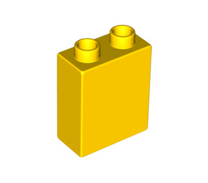 LEGO Yellow Duplo Brick 1 x 2 x 2 without Bottom Tube (4066)