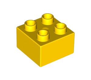 LEGO Yellow Duplo Brick 2 x 2 (3437 / 89461)