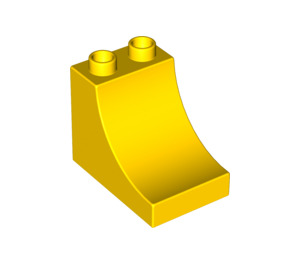LEGO Yellow Duplo Brick 2 x 3 x 2 with Curved Ramp (2301)