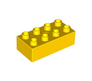 LEGO Yellow Duplo Brick 2 x 4 (3011 / 31459)