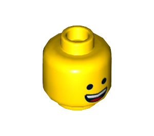 LEGO Yellow Emmett Head (Recessed Solid Stud) (44258)