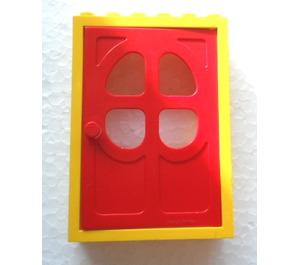 LEGO Yellow Fabuland Door Frame with Red Door