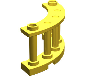 LEGO Yellow Fence Spindled 4 x 4 x 2 Quarter Round with 2 Studs