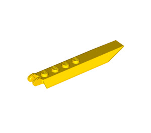 LEGO Yellow Hinge Plate 1 x 8 with Angled Side Extensions (Round Plate Underneath) (30407)