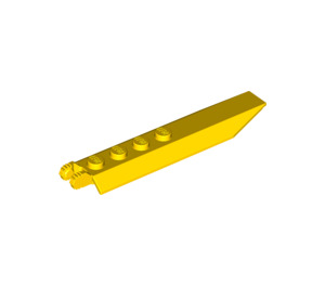 LEGO Yellow Hinge Plate 1 x 8 with Angled Side Extensions (Squared Plate Underneath) (14137)