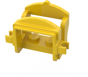 LEGO Yellow Horse Saddle with Two Clips (Flat Fronted Clips) (4491)