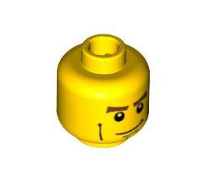 LEGO Yellow Minifigure Head with Cheekbones (Recessed Solid Stud) (48151)