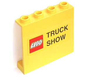 LEGO Yellow Panel 1 x 4 x 3 with Truck Show Sticker without Side Supports, Hollow Studs