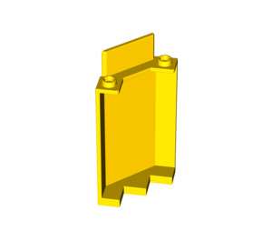 LEGO Yellow Panel Wall 3 x 3 x 6 Corner without Bottom Indentations (87421)