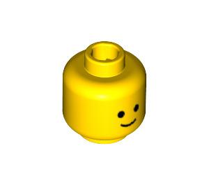 LEGO Yellow Plain Head with Basic Eyes and Smile (Safety Stud) (9336)
