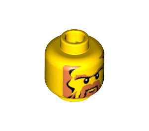 LEGO Yellow Plain Head with Decoration (Safety Stud) (53935)