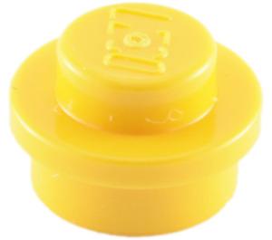 LEGO Yellow Plate 1 x 1 Round (6141)