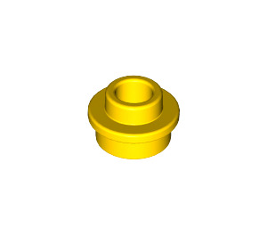 LEGO Yellow Plate 1 x 1 Round with Open Stud (28626 / 85861)