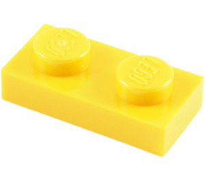 LEGO Yellow Plate 1 x 2 (3023)