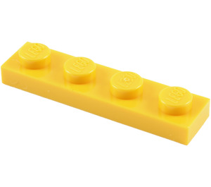 LEGO Yellow Plate 1 x 4 (3710)