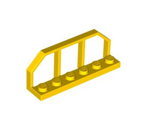 LEGO Yellow Plate 1 x 6 with Train Wagon End (6583)