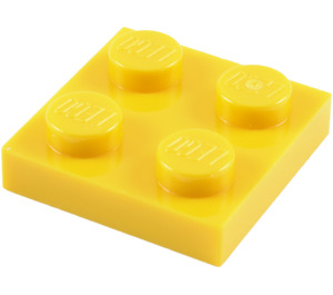 LEGO Yellow Plate 2 x 2 (3022 / 94148)