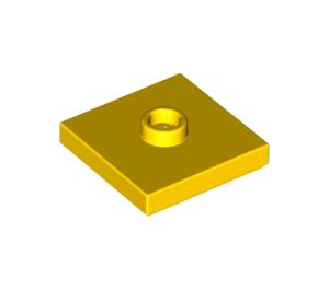 LEGO Yellow Plate 2 x 2 with Groove and 1 Center Stud (23893 / 87580)