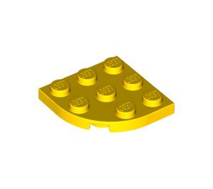 LEGO Yellow Plate 3 x 3 Corner Round (30357)