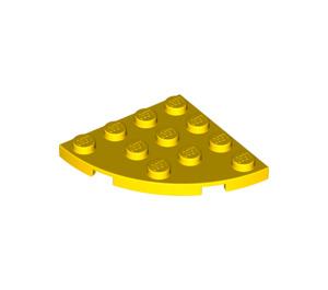 LEGO Jaune assiette 4 x 4 Rond Coin (30565)
