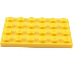 LEGO Yellow Plate 4 x 6 (3032)