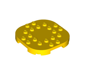 LEGO Yellow Plate 6 x 6 x 2/3 Circle with Reduced Knobs (66789)