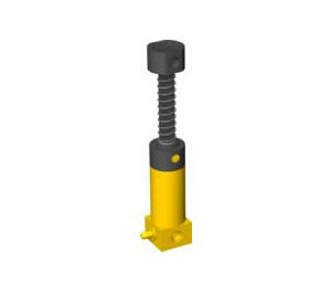 LEGO Yellow Pneumatic Pump with Black Finger Knob (74720)