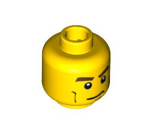 LEGO Yellow  Racers Head (Recessed Solid Stud) (88938)