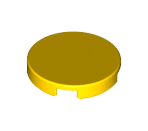 LEGO Yellow Round Tile 2 x 2 with Bottom Stud Holder (14769)