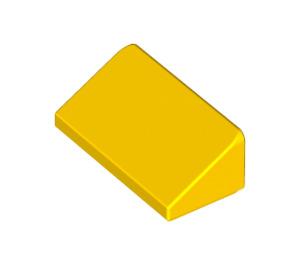 LEGO Yellow Slope 1 x 2 (31°) (85984)
