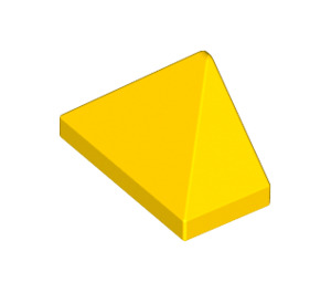LEGO Yellow Slope 1 x 2 (45°) Triple with Inside Stud Holder (15571)