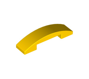 LEGO Yellow Slope 1 x 4 Curved Double (93273)
